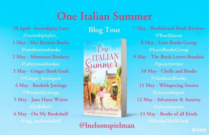 One Italian Summer Blog Tour poster