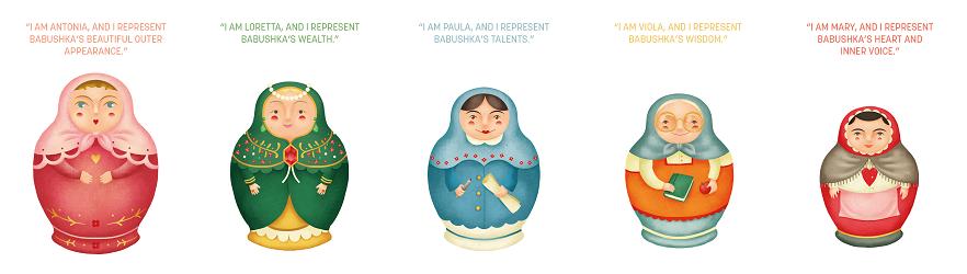 Babushka dolls by Catherine Flores