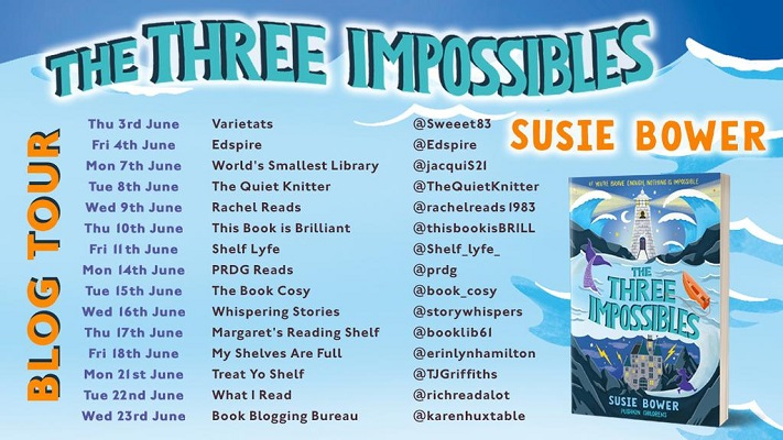 Blog tour poster The Three Impossibles