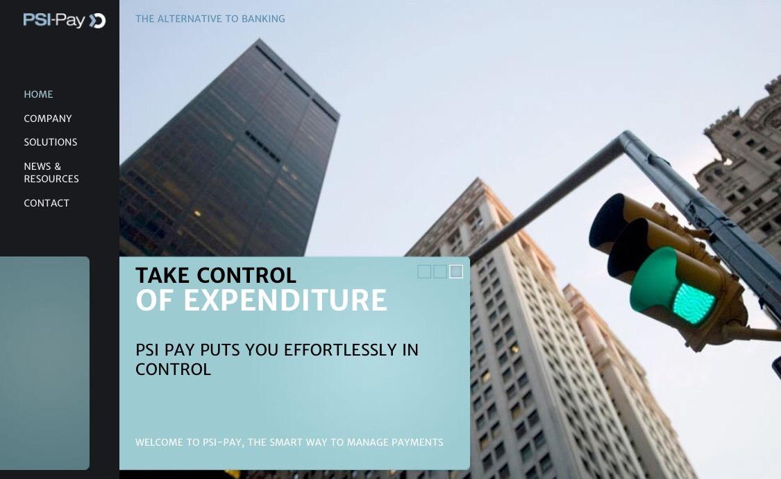 PSI-Pay Ltd サイトホーム画面の写真