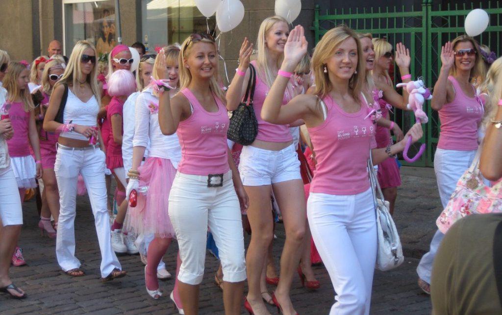 ラトビアのブロンド祭りの写真