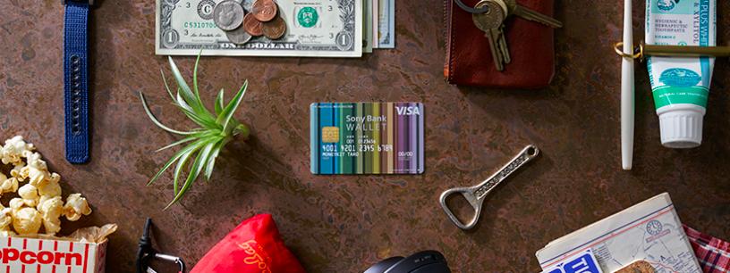 ソニー銀行VISAデビットカードの写真