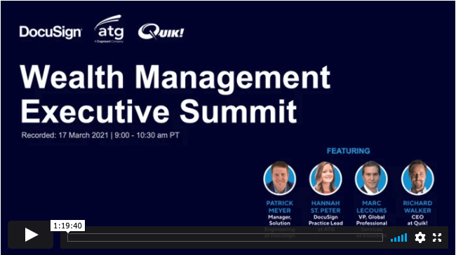 ATG Presents: Financial Form Round Table with DocuSign, Quik!, & Salesforce
