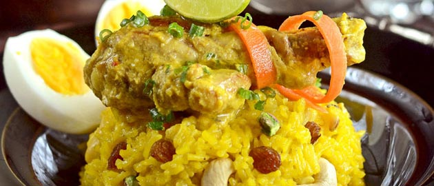 Recipe for Afghani Chicken Pulao.