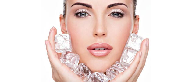 Ice cubes- an amazing ingredient for your face.