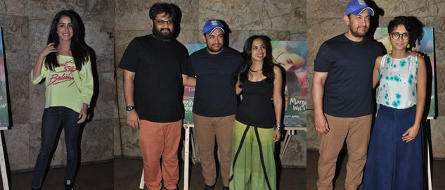Aamir Khan, Kalki Koechlin and others at MARGARITA WITH A STRAW special screening