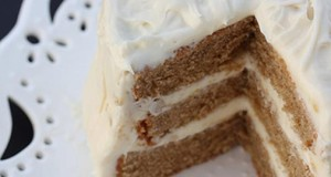Chai Cake with Honey Ginger Cream