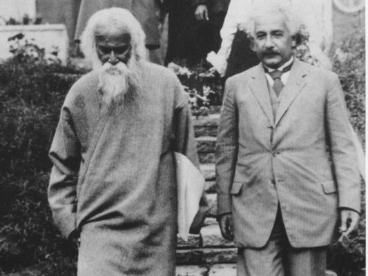 Rabindranath Tagore with Einstein