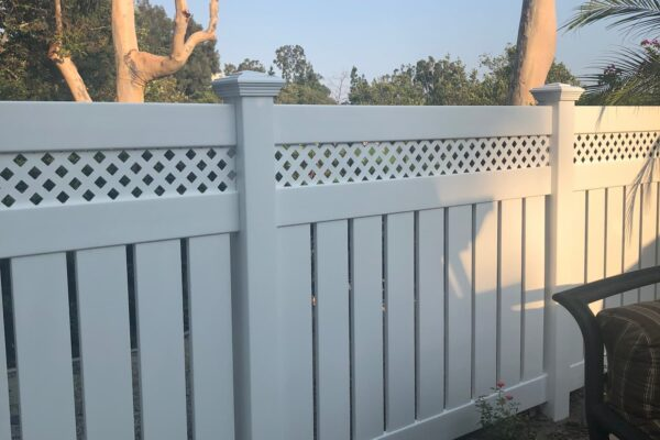 Vinyl Lattice Top Fence