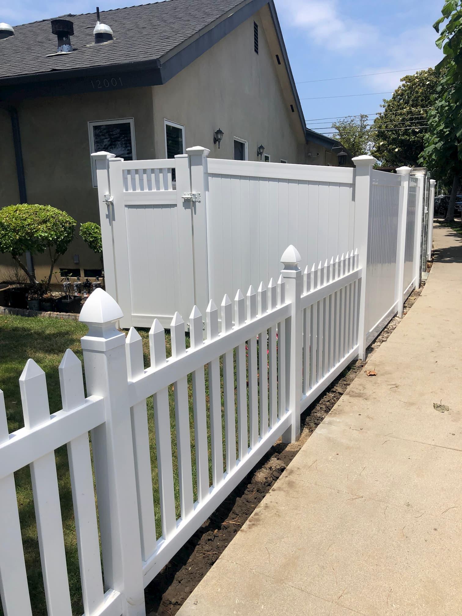 Vinyl Picket Fence Mar Vista, Los Angeles