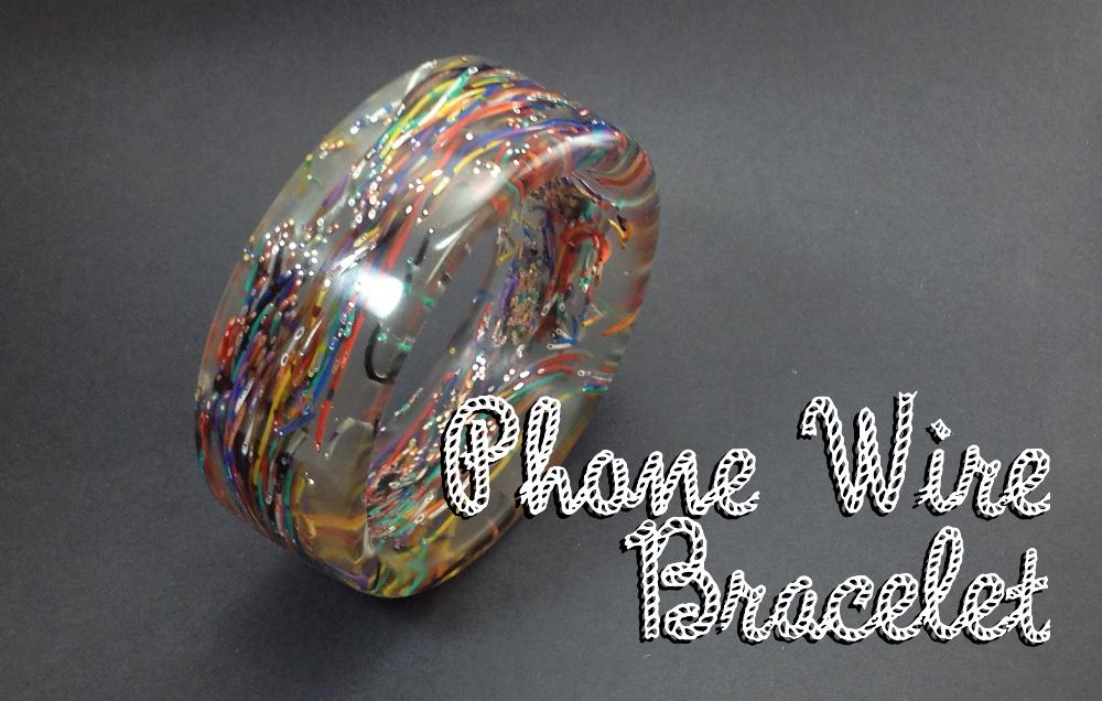 Phone Wire Bracelet