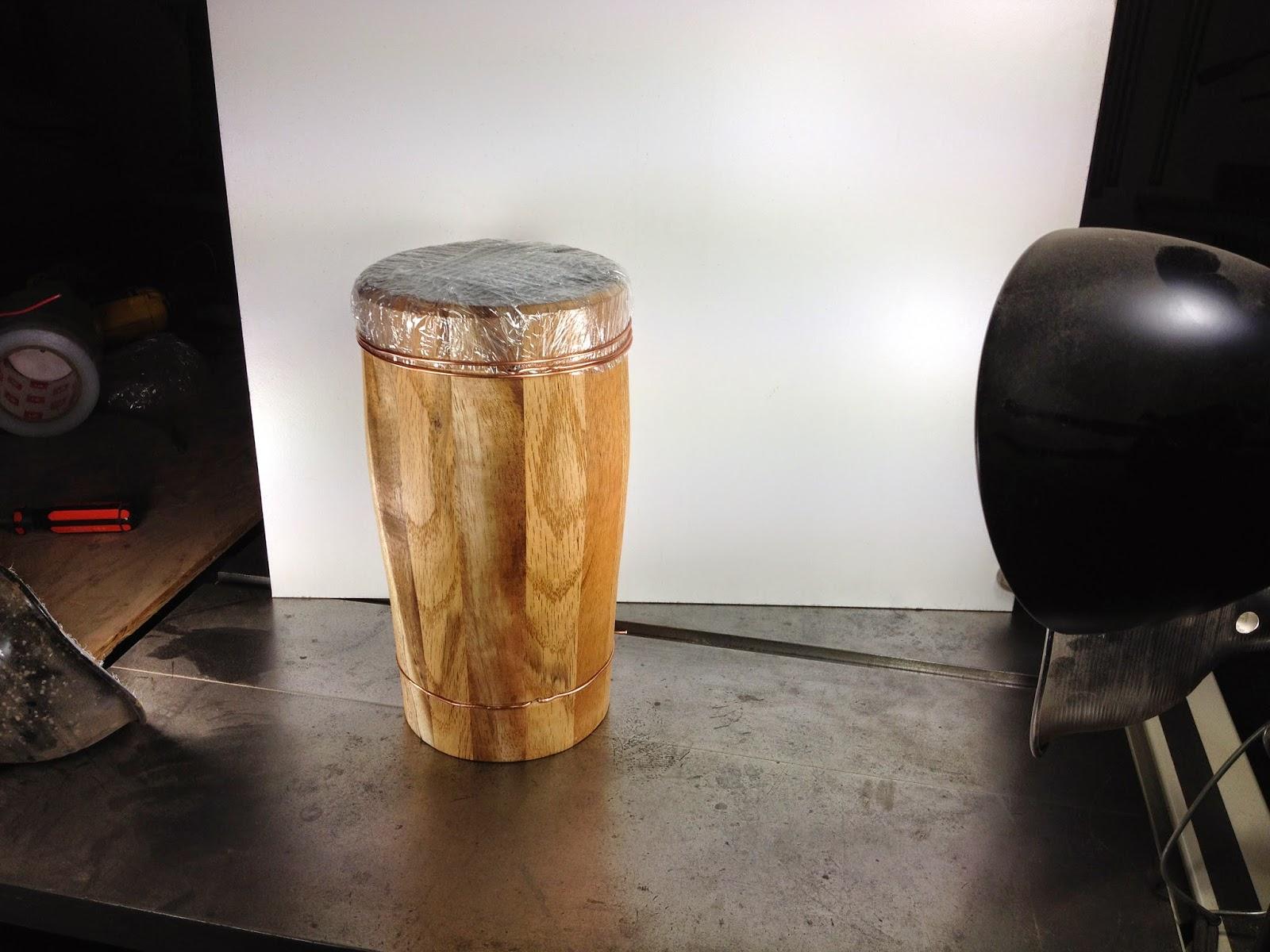 Birth Of An Idea: Stretch Wrap Bongo Drum