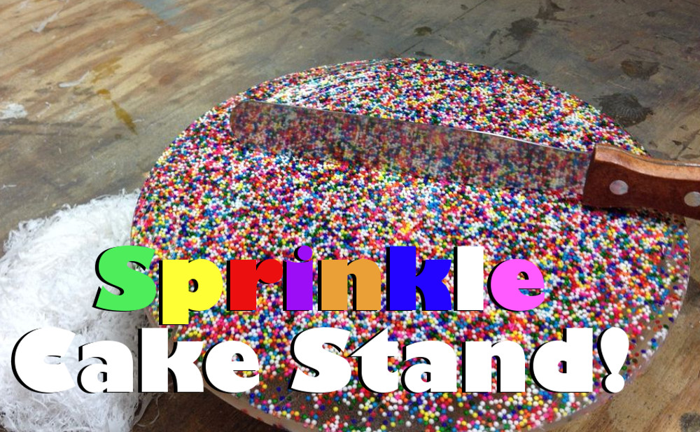 Candy Sprinkle Cake Stand