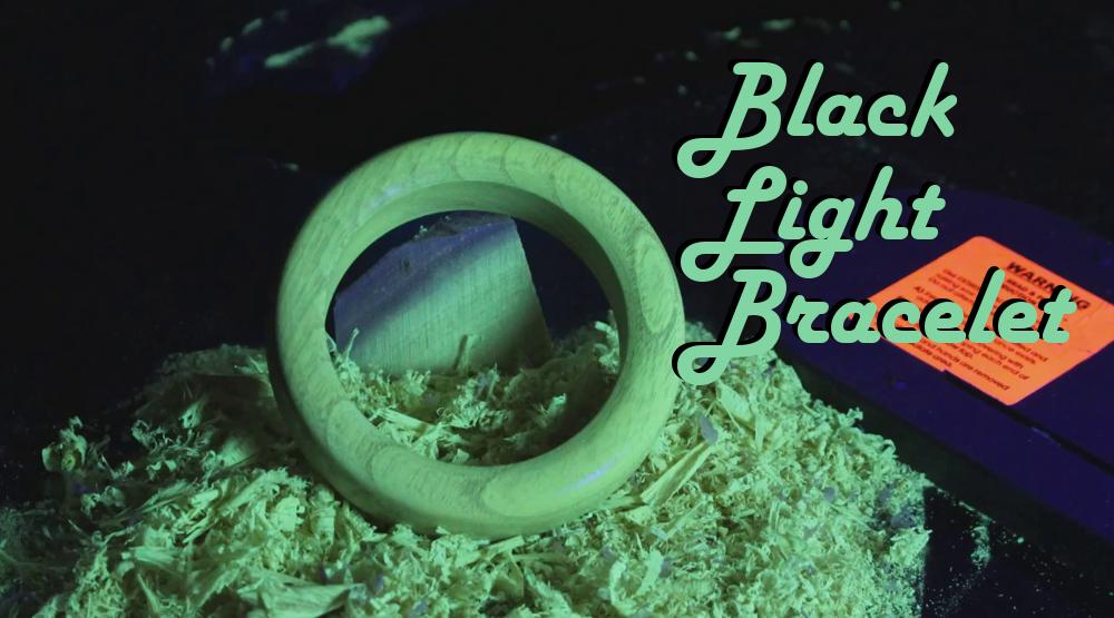 Black Light Bangle From Black Locust!
