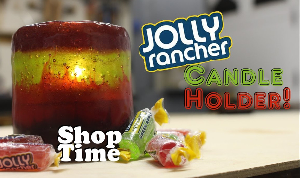 Jolly Rancher Candle Holder