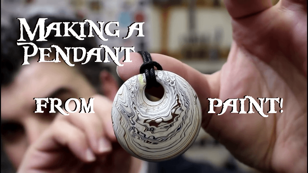 Making a Pendant From Paint