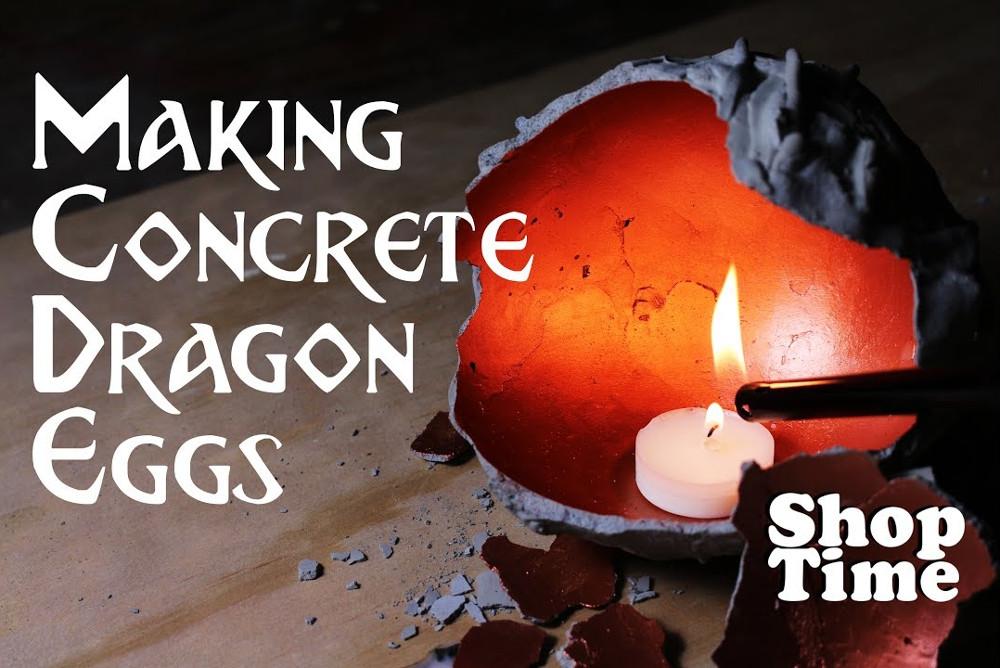 Making Concrete Dragon Eggs