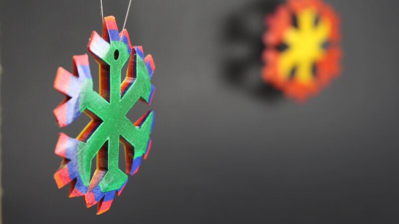 Rainbow Snowflake Ornament
