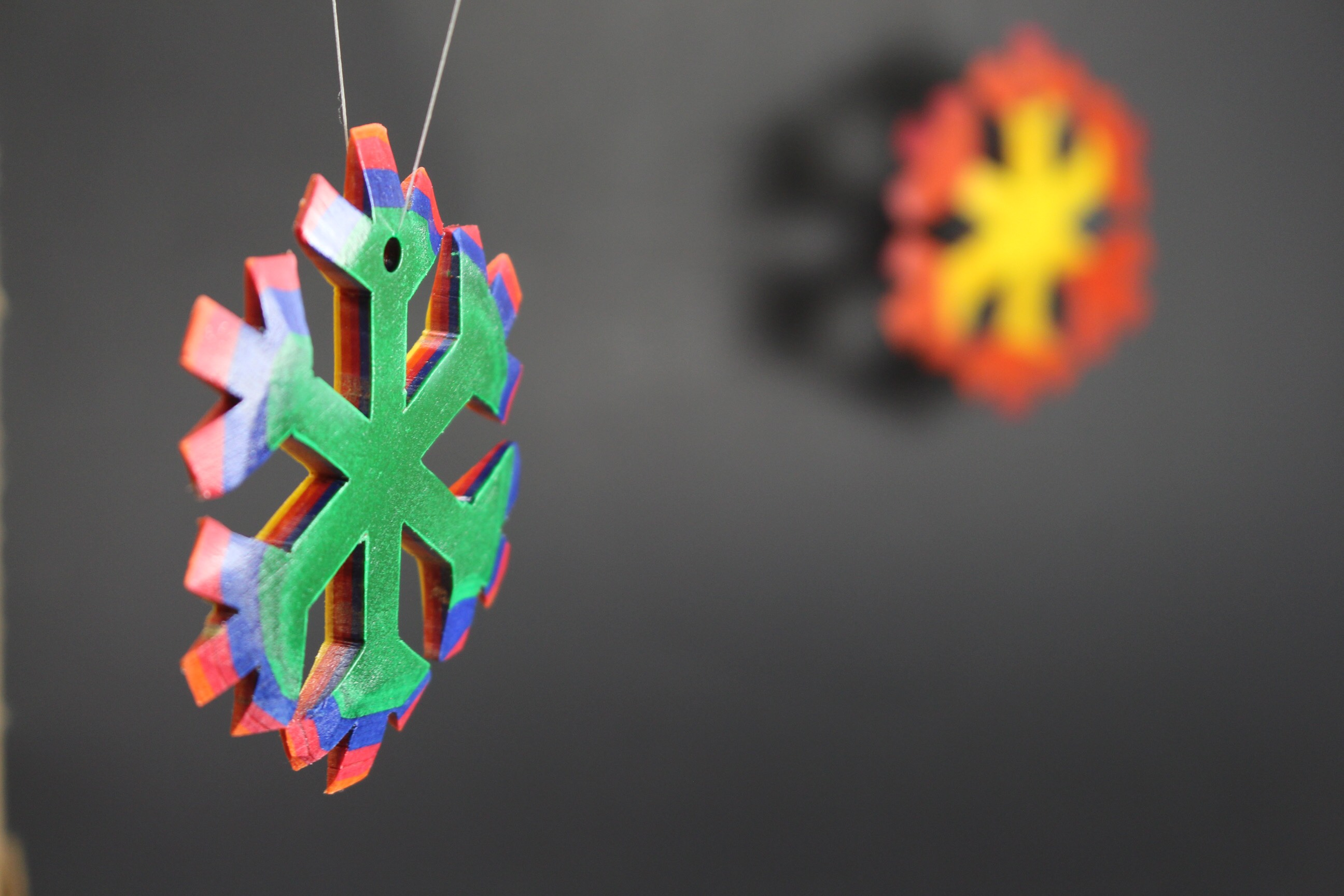 Rainbow Snowflake Ornament