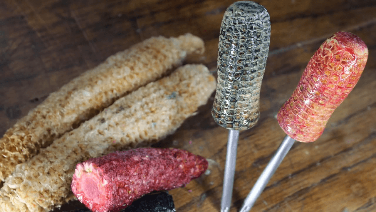 Dyed and Stabilized Corn Cobs!