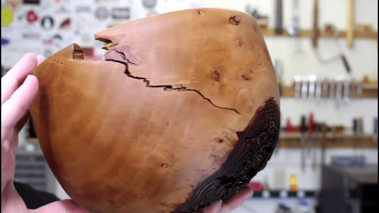 Natural Edge Pear Bowl