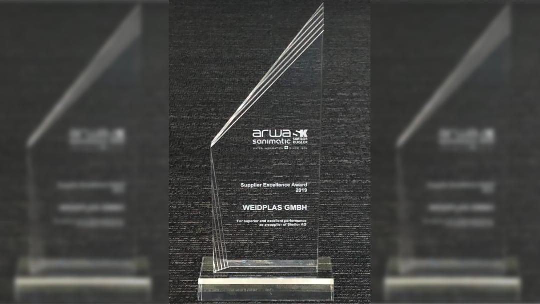 Supplier Excellence Award 2019 for WEIDPLAS GmbH Plant Rueti