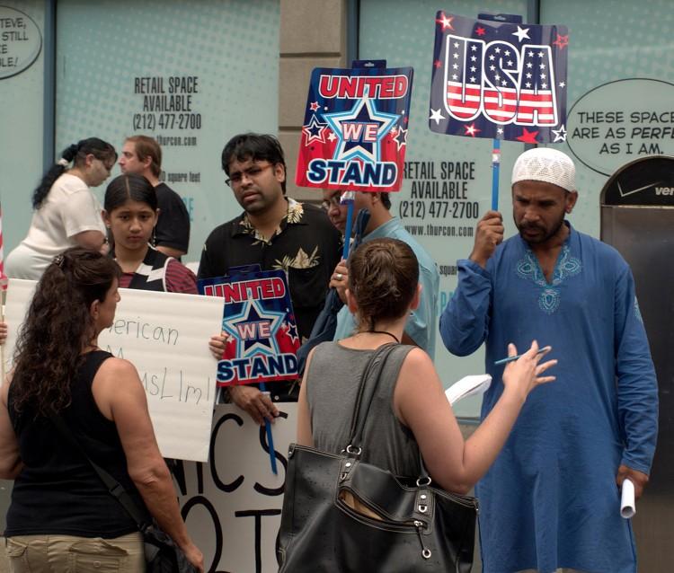 Muslim American protest