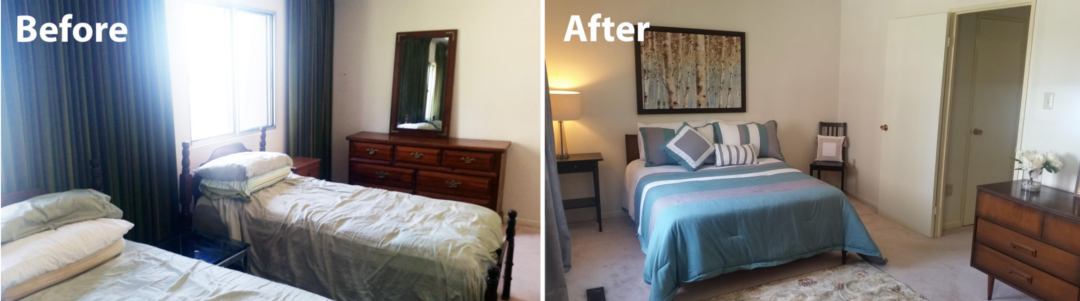 Declutter before and after