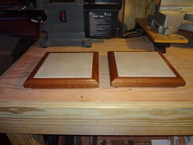 Custom Wood Framed Ceramic Tile Trivet