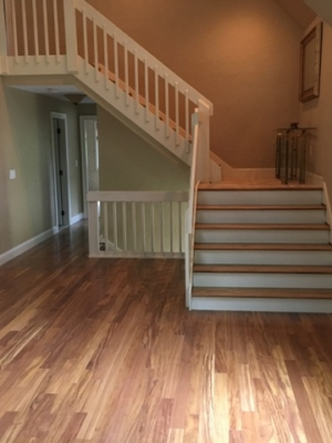 New stairs & hardwood floor