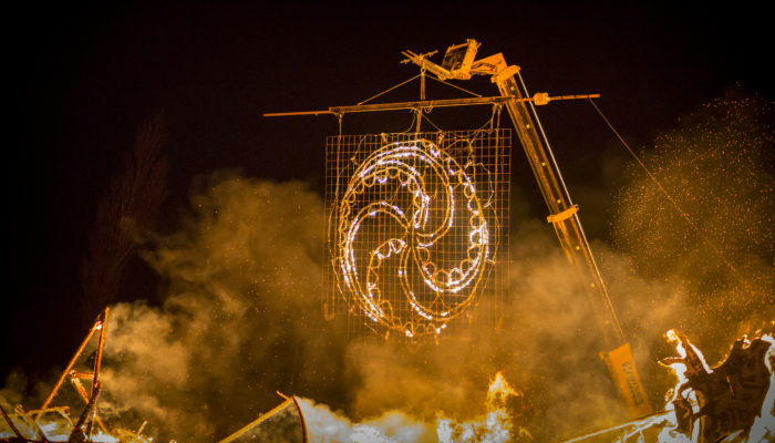 East of the Sun, West of the Moon (Walk the Plank in collaboration with NewcastleGateshead Initiative and Newcastle City Council; Photo – Rich Kenworthy)