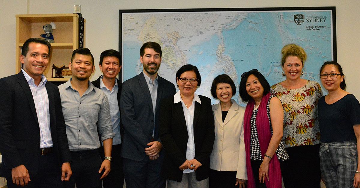 Philippines ambassador to Australia with Sydney Southeast Asia Centre staff