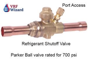 ball valve for vrf refrigerant system