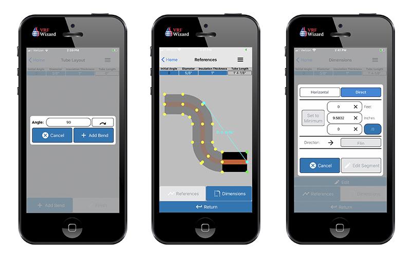 Reftekk Mobile App - Adding Bends and Changing Dimensions