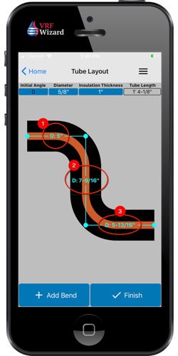 Easily edit dimensions in the Reftekk mobile app