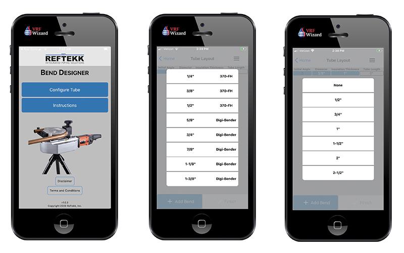 Reftekk Mobile Bending App