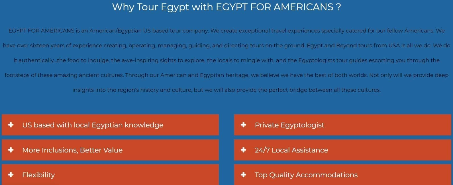 Why tour Egypt for Americans