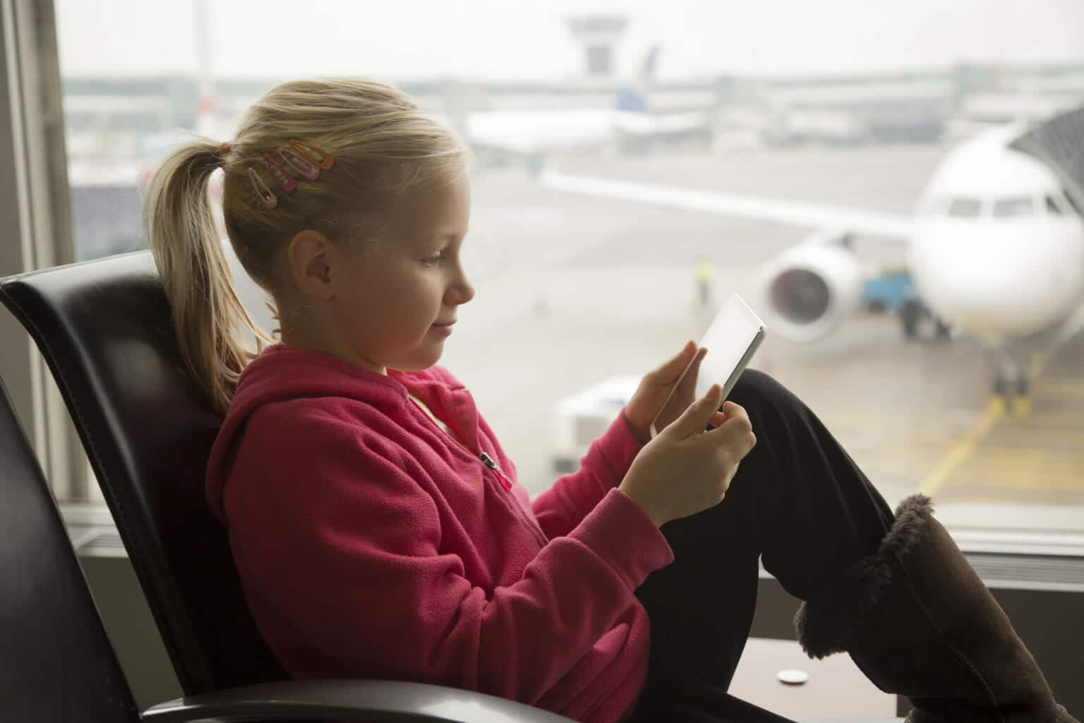 Children and down time at Airports