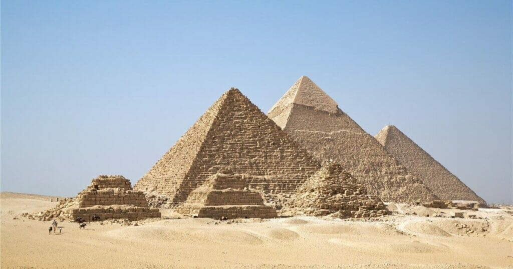 The Queens Pyramids at Giza in Egypt