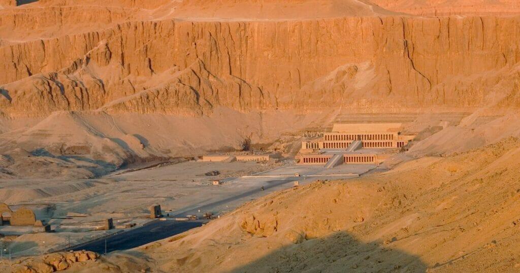 Deir El Bahari Temple Curved in the Cliff
