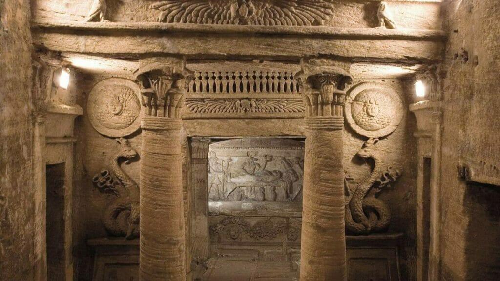 Catacombs-Alexandria-Egypt-99 stairs deep Greco Roman Cemetery in Egypt- Alexandria Tour