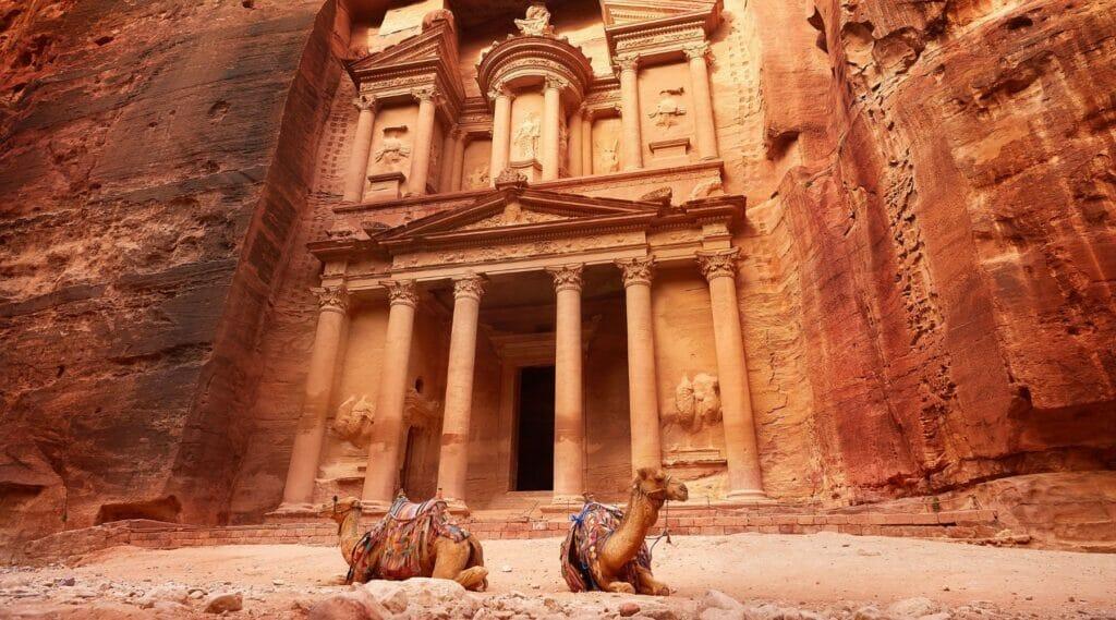 The Treasury of Little Petra in Jordan