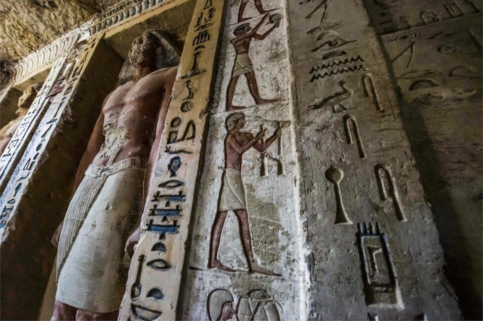 The Newest Discovery in Egypt- 4,400 years old untouched high priest tomb in Saqqara, Egypt
