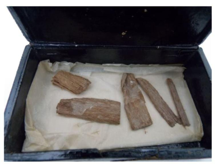 The Egyptian relics from the Great Pyramid of Giza found in the cigar box