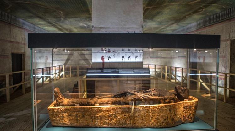 Mummies display in National Museum
