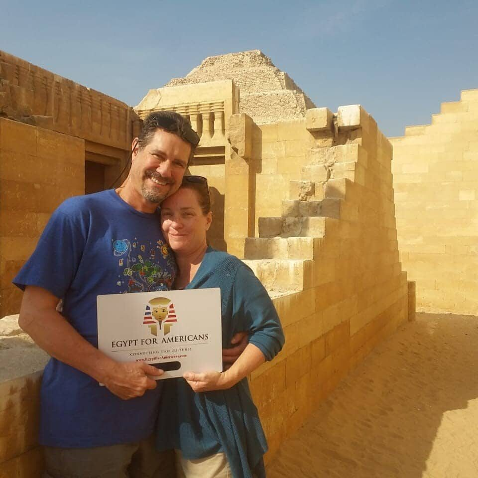 happy guests with Egypt for Americans