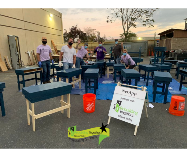 RTSV and NetApp Build Desks for Children of Essential Workers Subheading: Students at the Boys and Girls Club of Silicon Valley needed a place to learn at home.