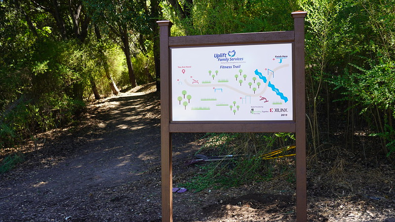 Uplift Family Services New Trail Sign