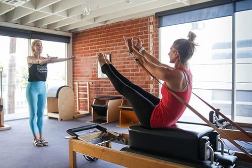 Private Pilates session at Phoenix Classical Pilates in Santa Monica
