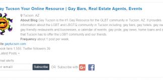 GayTucson Ranks in Top 15 Tucson Blogs